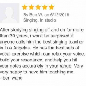 Voice student review-