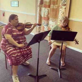 Playing duets with my childhood teacher!