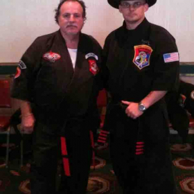 GM George Elmer and me at his Lineup if Masters event, 2017