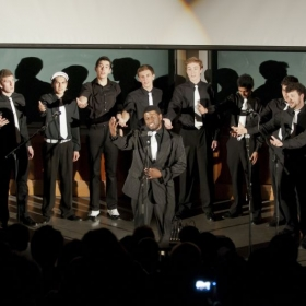 Performing with the all-male a cappella group The Afterglow of UC Davis during my undergraduate studies.