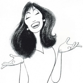 Caricature by famous Broadway artist    Al Hirshfeld