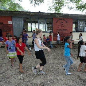 Teaching dance class in the Indigenous town of Ignacio Allende in Chiapas,MX.