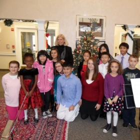 A holiday concert with a few of my students