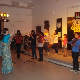 Concert in Unison World School for Cultural Night.