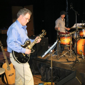 Playing Electric and Acoustic Guitar in Worship Band.