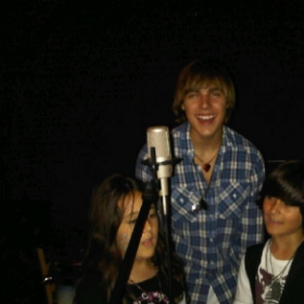 Cody Liney from the Miley Cyrus show with Alex Shaw at my music store sometime 2010