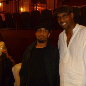 Me with Gerald Veasley (one of my favorite philly bass players) after a benefit concert!!