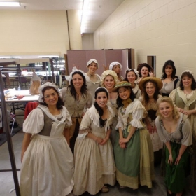 All the women from WGO's production of Le Nozze di Figaro (2013).