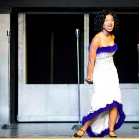 "Performing the role of ""Deena"" in Dreamgirls, Wilmington, NC 2013"