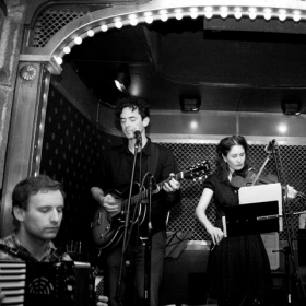 Performing with the band Kotorino Pete's Candy Store in Brooklyn, 2009