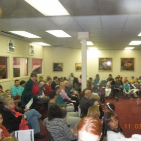A view of the audience for one of my student recitals.