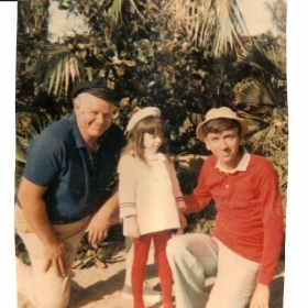 Me, 5 years old on the Island with Gilligan and Skipper