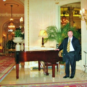 Mario at the Ritz Carlton Hotel in London. 150 Piccadilly, London W1J9BR, United Kingdom. September 2009