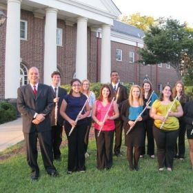 A photo of The College of New Jersey flute studio.