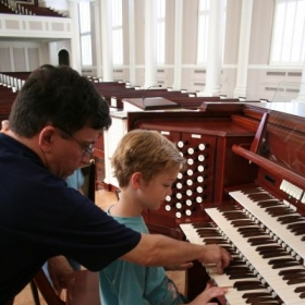"My Organ Camp: ""Pipes, Pedals and Pizza"" is held every year