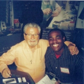 Sir James Galway and I at the 2009 NFA Convention in New York