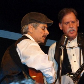 Mark along with band member Dave Karam during a recent performance.