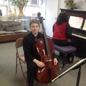 My cello students are doing well at their school orchestras!