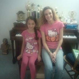 Matching teacher and student! :-) (Elizabeth, age 8)