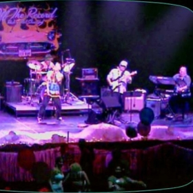 Playing the Verizon Theater - I'm on the right playing the keys.