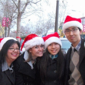 Mu Phi Epsilon - SJSU Chapter Christmas Caroling on Willow Glen streets