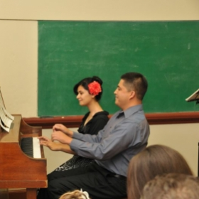 Recital duet performance at a local school