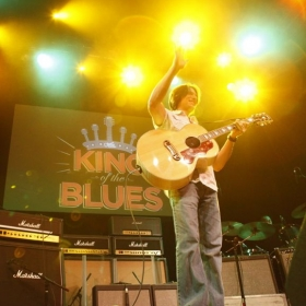 Runner up in King of the Blues national guitar competition. Hollywood, CA. Nov., 2009.