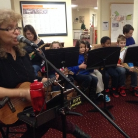 Performance with a local ukelele class. 2013