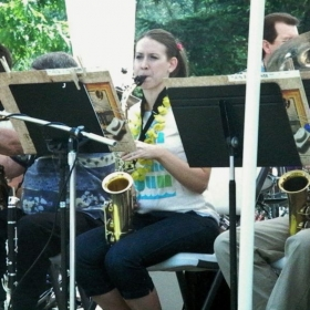 Naomi plays with the Maple Valley Big Band