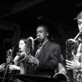 Baritone Saxophone Trio playing tunes of Pepper Adams and Gerry Mulligan at Chris's Jazz Cafe in Philadelphia, PA.