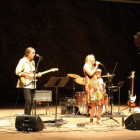 Performing live with Lisa Bell in Estes Park, CO.