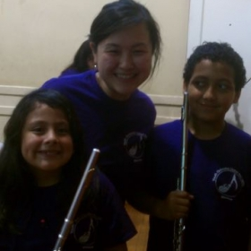 Teaching Flute at YOURS program with People's Music