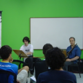 Giving a Jazz Workshop in Florianopolis Brazil