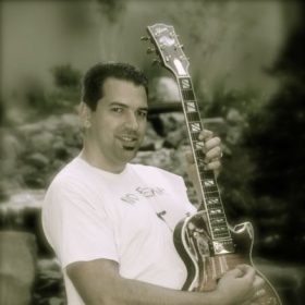 Me playing a 2008 Gibson Les Paul Standard.