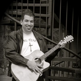 Me playing a Fender DG-22CE Acoustic Electric. I used this guitar to record the acoustic guitar parts on my CD.