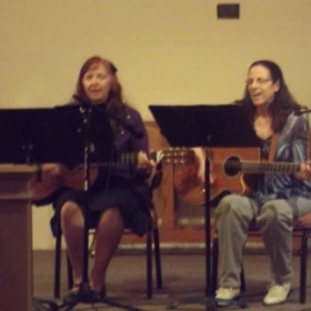 A student and myself at my recital, 2013.