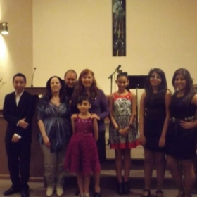 My students and I at my recital, fall 2013,