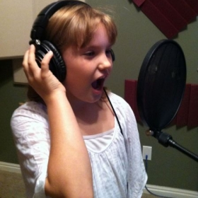 Recording session with Zoe, Winner of Southern Utah Performing arts Festival 2013