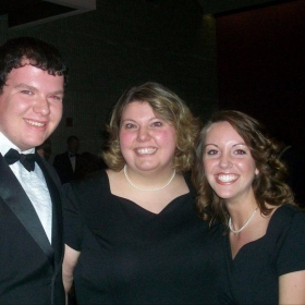 With other University of Toledo Choir Members