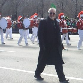 With band in Chicago St. Patrick's Day Parade 2004
