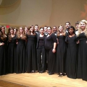 With my Chamber Singers at NC ISCF...at 7-1/2 months pregnant :)