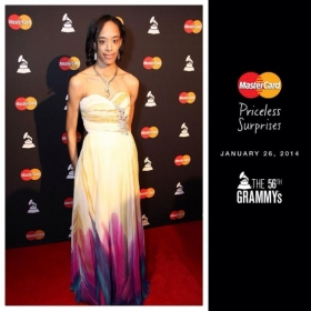 My red carpet photo at the 56th Annual Grammy Awards (yup, I was there!)