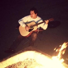 Jamming by the campfire!