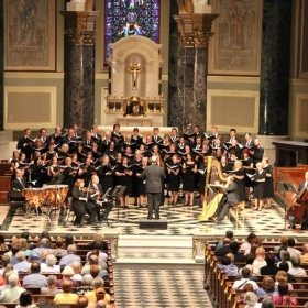Archdiocesan Choir of Philadelphia, 2014, I'm in the center of this photo. We sang at all three Masses during the Papal Visit in 2015.