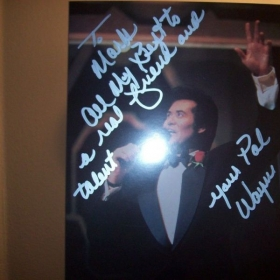 Wayne Newton autograph at 2007 performance in Las Vegas