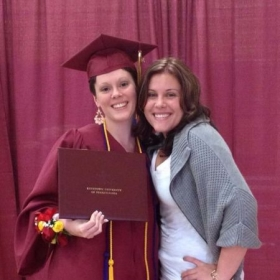 Kutztown University Spring 2013 Graduation. Graduating Cum Laude with a bachelors degree in Music Education and Vocal Performance!