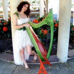 My custom-made Caswell Harp and I for a photoshoot