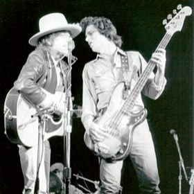 Bob Dylan and Rob Stoner 1975