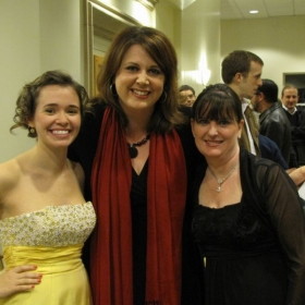 Me with my voice teacher (Dr. Kristen Wunderlich) and accompanist (Ms. Jennifer Austin) after my senior recital.