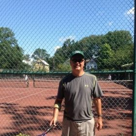 Playing Tennis Tournament At Berkeley Tennis Club.